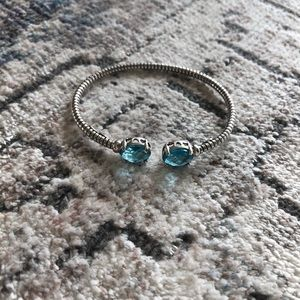 Jewelry - Turquoise stone and silver clasp bracelet